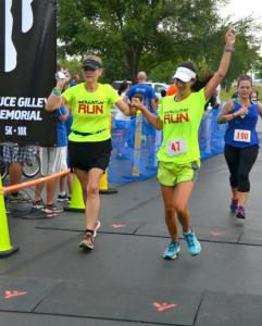finishing Run For Him 10K
