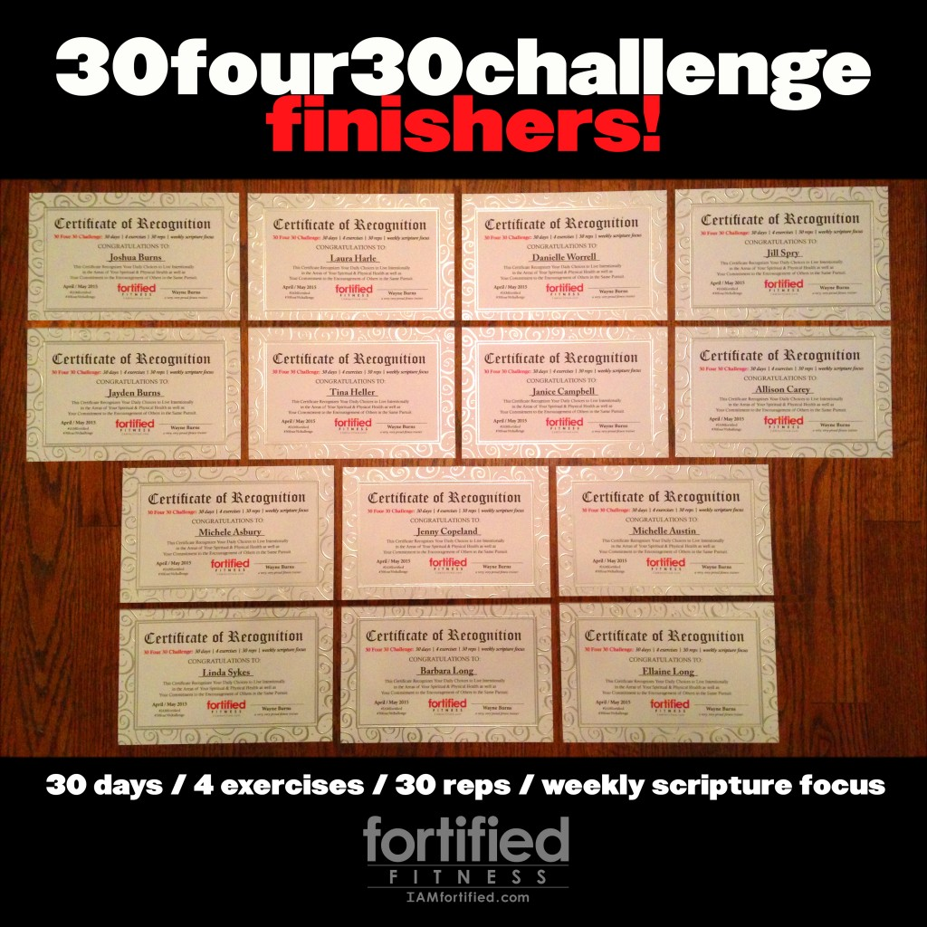 30 four 30 challenge finishers!